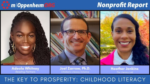 Adeola Whitney, CEO of Reading Partners Joel Zarrow, Ph.D., CEO of Children's Literacy Initiative and Heather Jenkins, CEO of The Literacy Lab