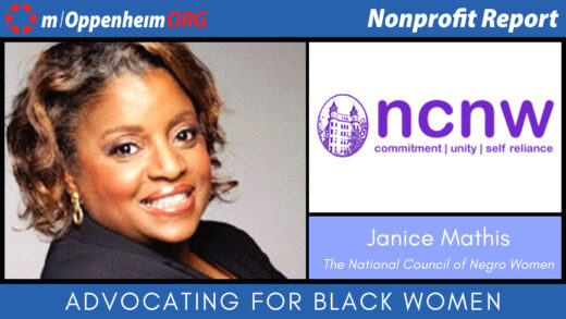 Poster with Janice Mathis Nonprofit Report