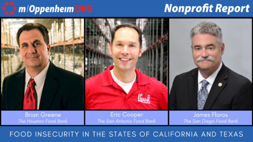 Poster with Brian Greene, Eric Cooper, James Floros on Nonprofit Report