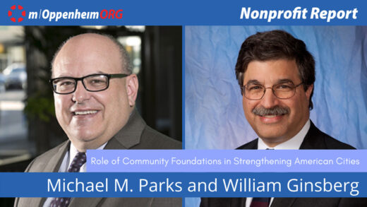 Poster with William Ginsberg, Mike Parks on Nonprofit Report