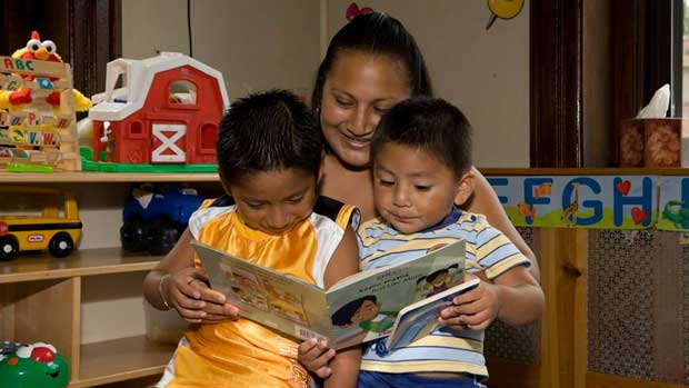 """Story time"" Photo courtesy of Family Life Education"