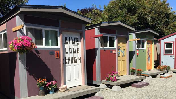 """""""Tiny Homes in Seattle"""" Photo courtesy of Low Income Housing Institute."""