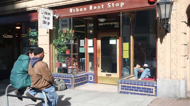 """""""Urban Rest Stop"""" Photo courtesy of Low Income Housing Institute."""