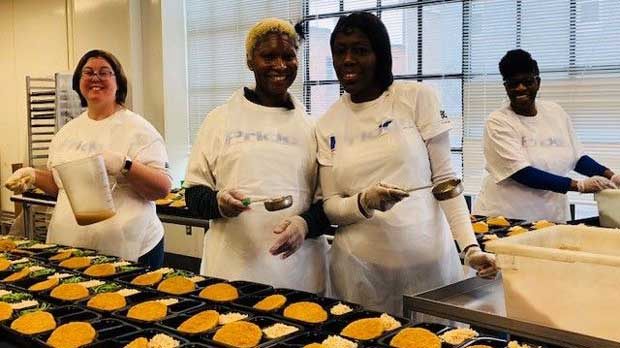 """Volunteering at moveable feast"" Photo courtesy of Moveable Feast."